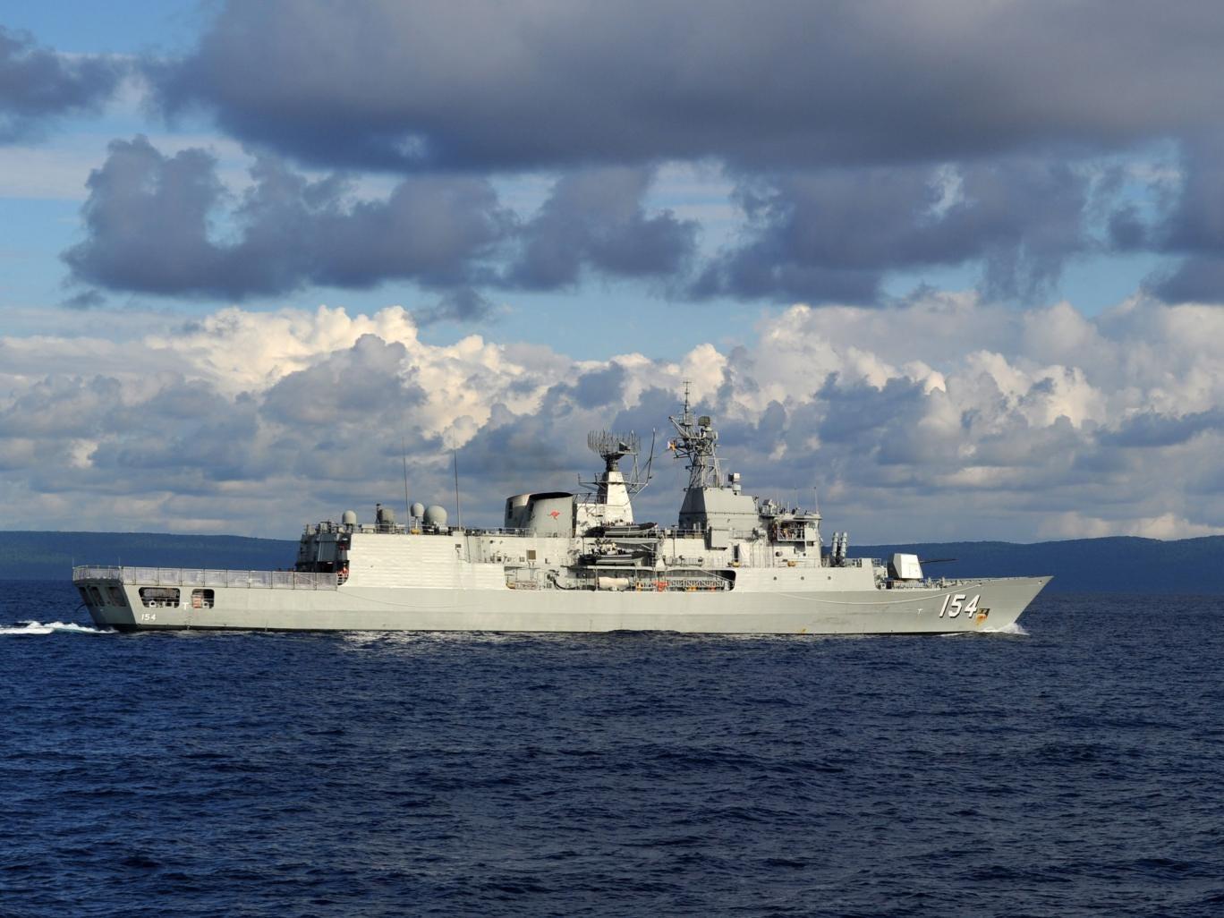 HMAS Parramatta, an Australian Navy ship that came to the rescue