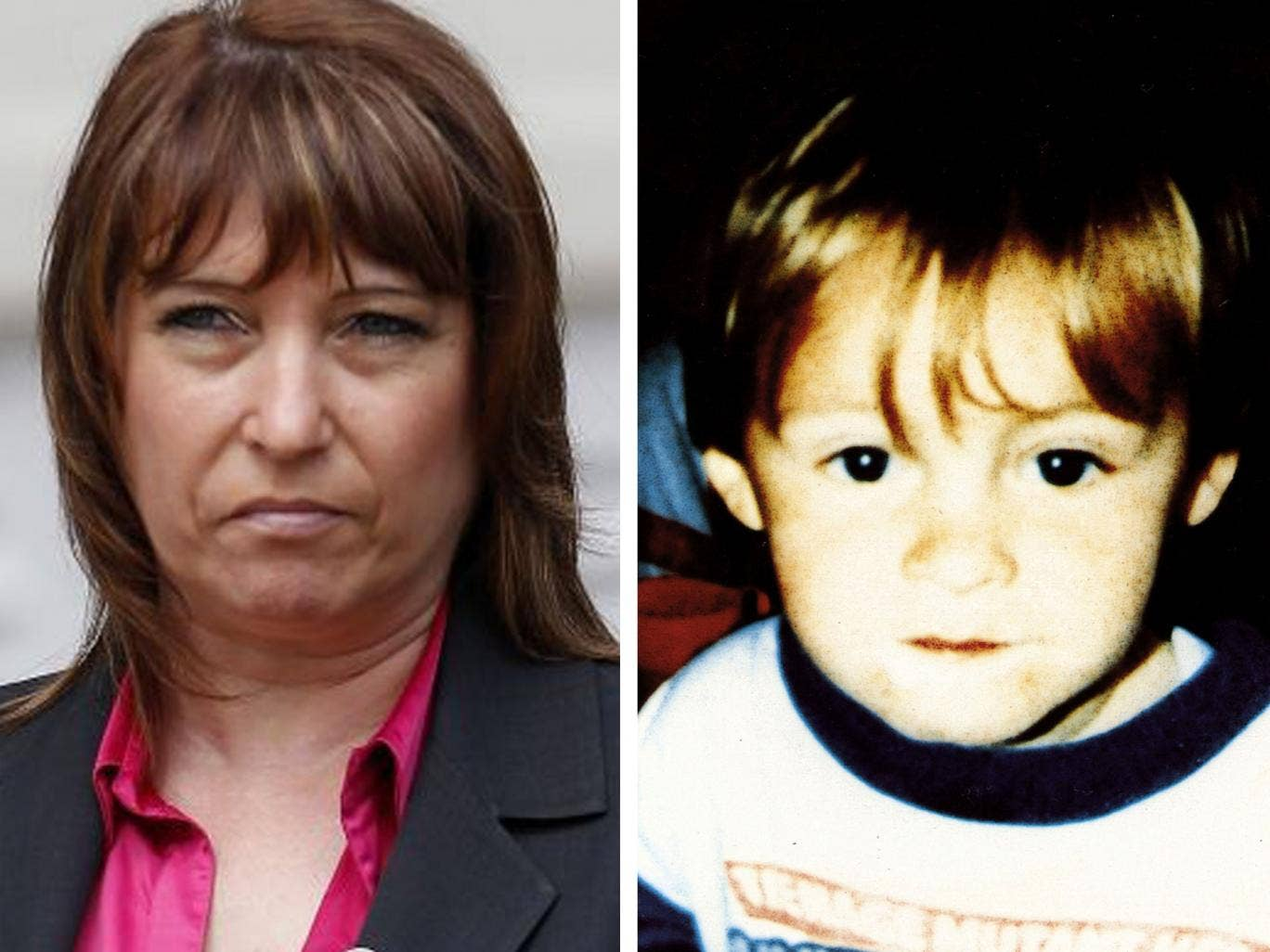 Denise Fergus, the mother of murdered toddler James Bulger (right), has been targeted by a troll on Twitter