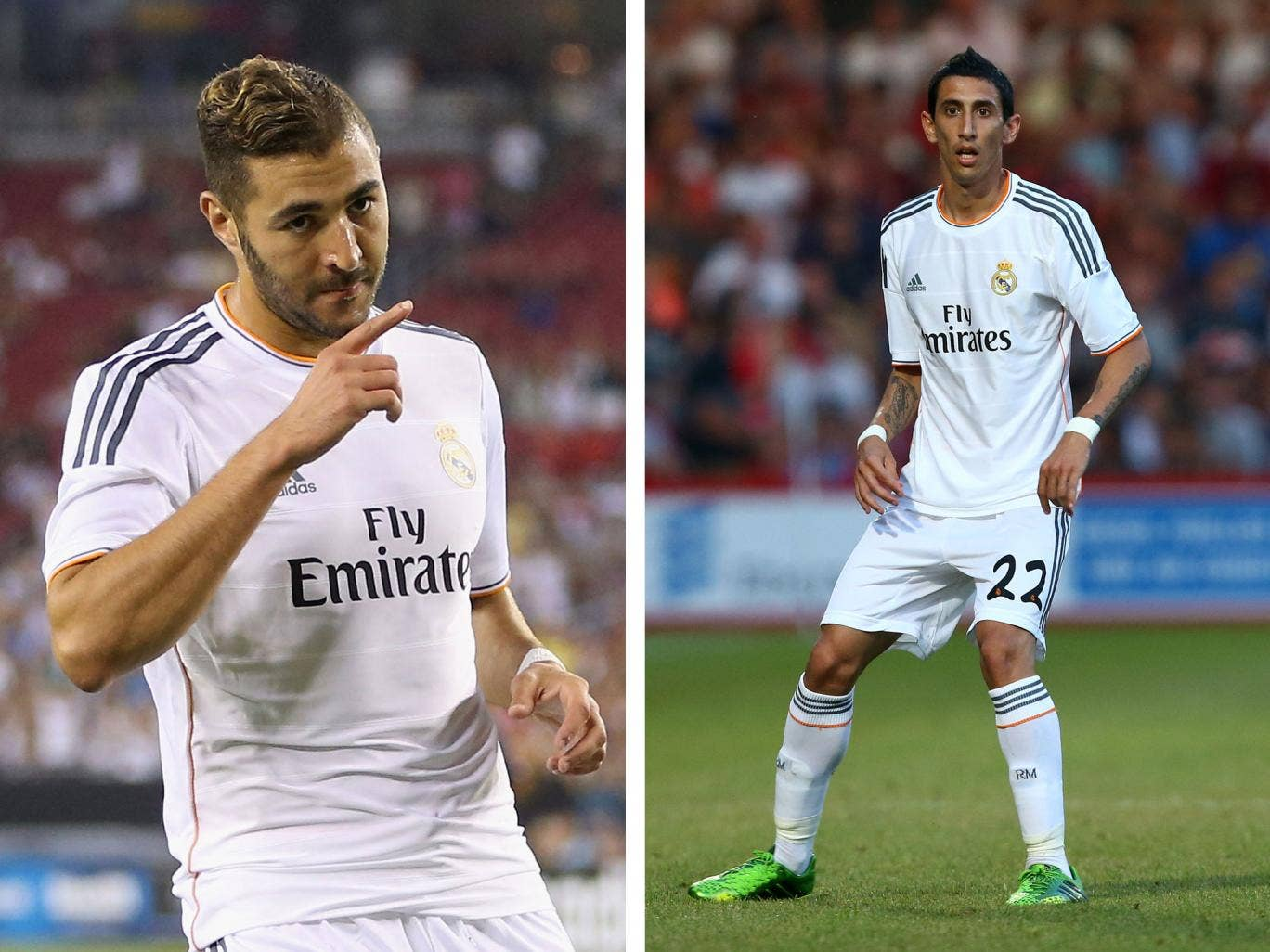 Karim Benzema and Angel Di Maria could both be on their way to Arsenal