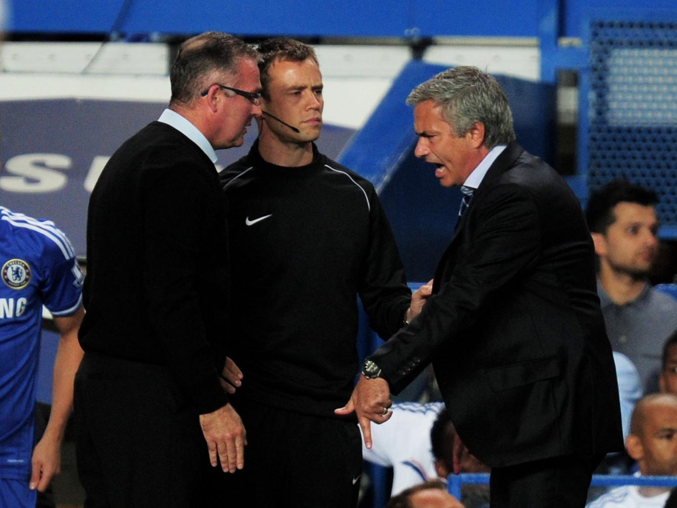 Jose Mourinho and Paul Lambert square up at Stamford Bridge