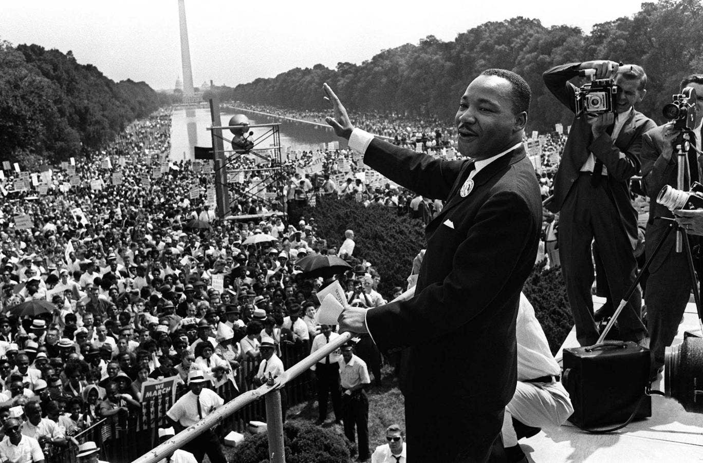 Memories of a March and a Dream: Martin Luther King during the March on Washington, on 28 August 1963