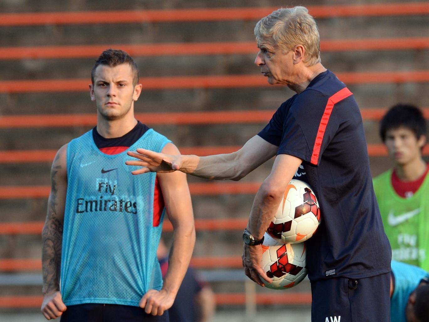 Jack Wilshere with Arsene Wenger