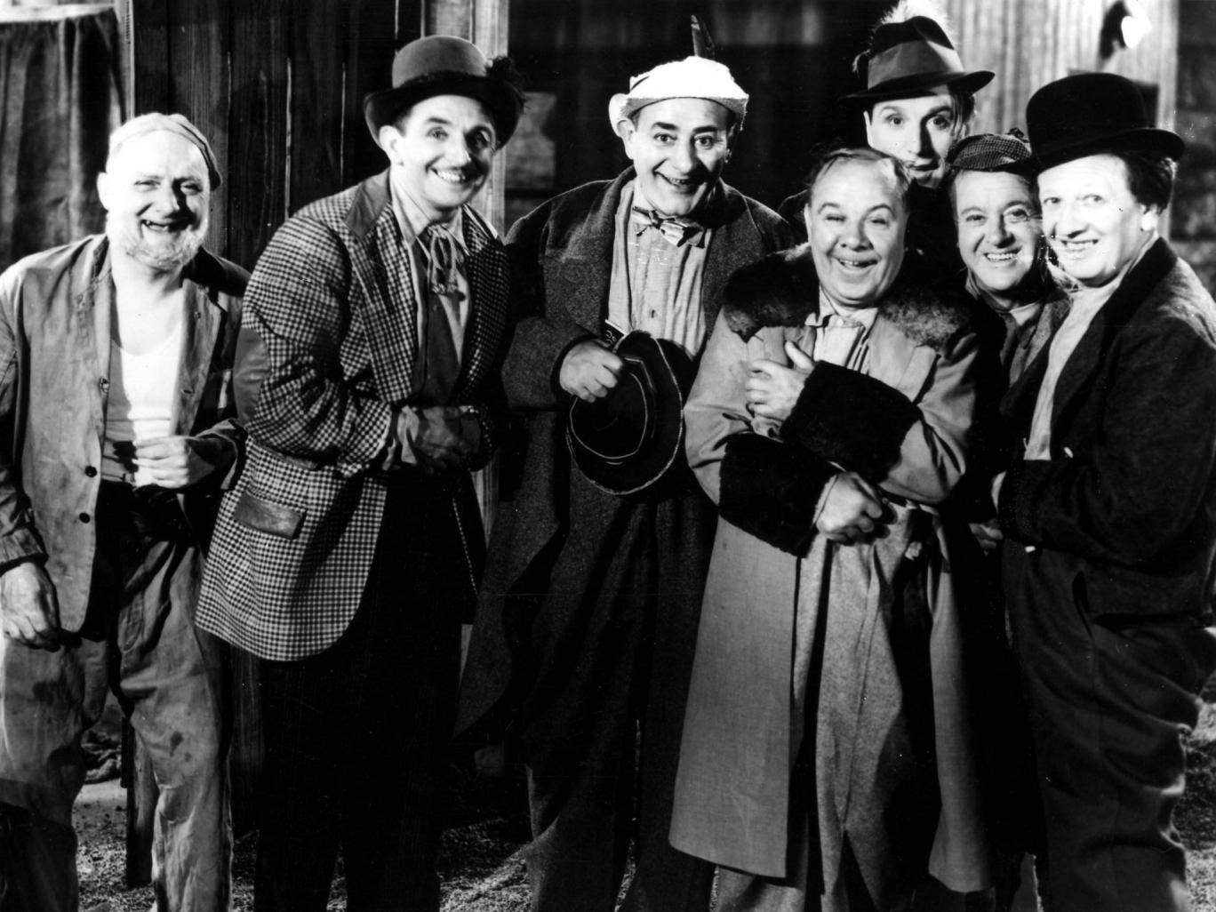 The Crazy Gang, hamming it up in 1941, 10 years after several acts joined forces