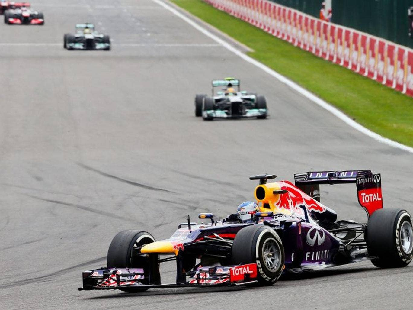 Sebastian Vettel cruised to the 31st win of his Formula One career