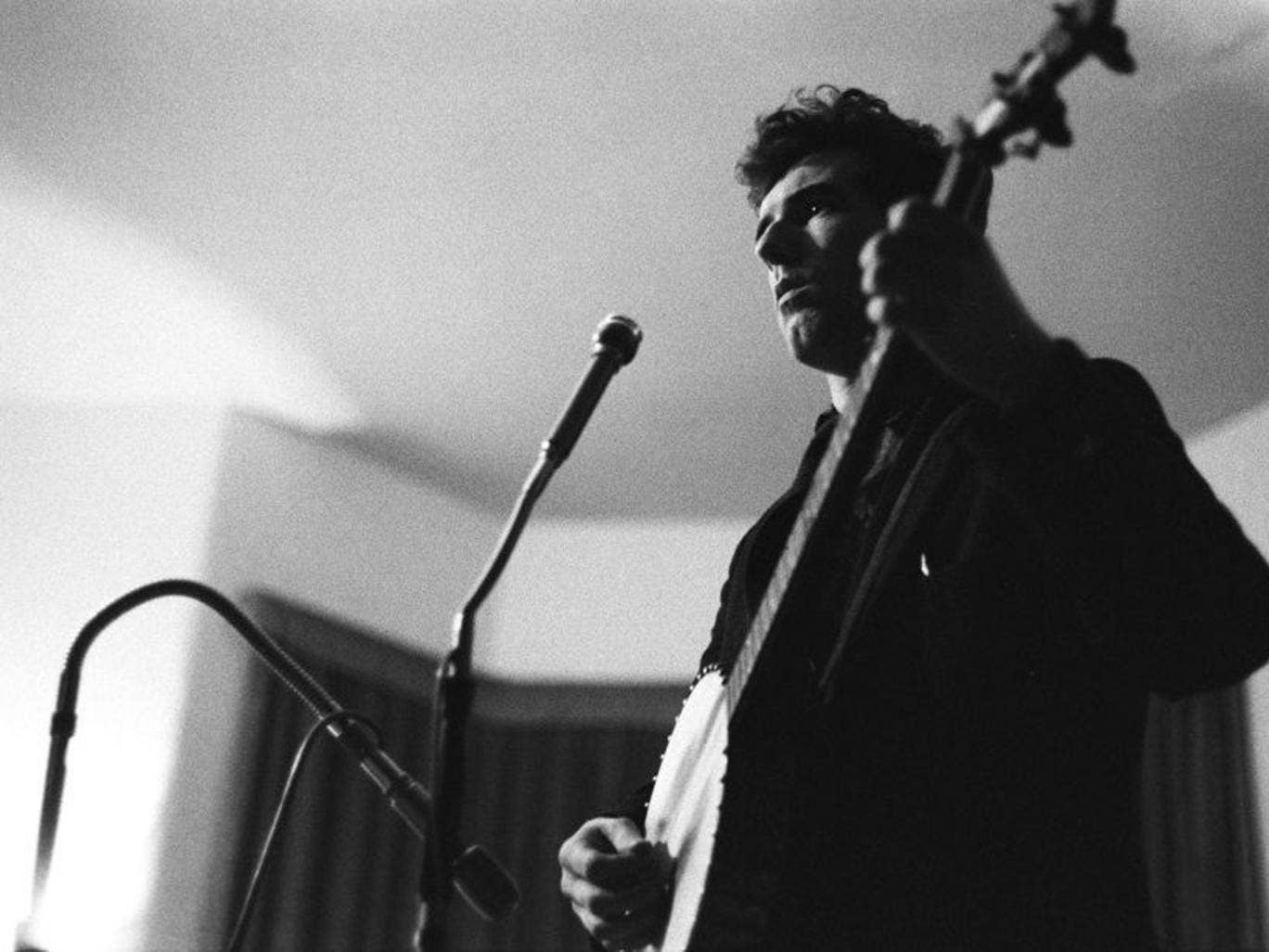 Killen in 1962 recording his contribution to 'The Iron Muse', an album of industrial songs