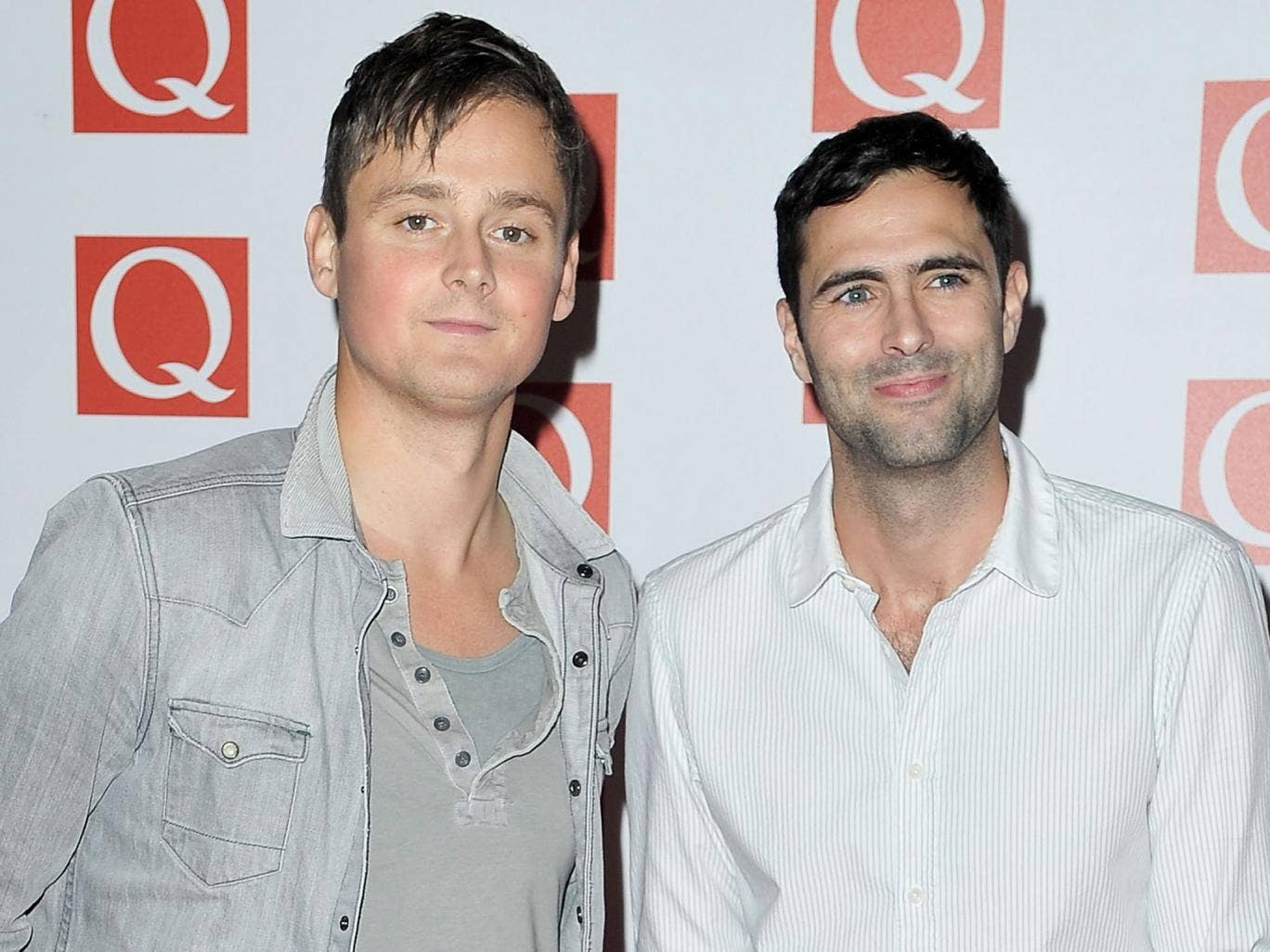 Keane's Tom Chaplin (left) and Tim Rice-Oxley