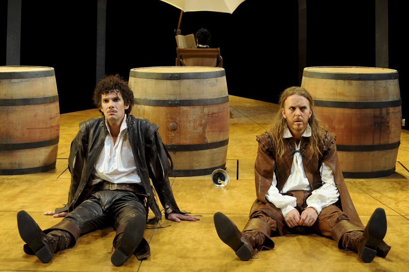 Toby Schmitz and Tim Minchin in Rosencrantz and Guildenstern are Dead