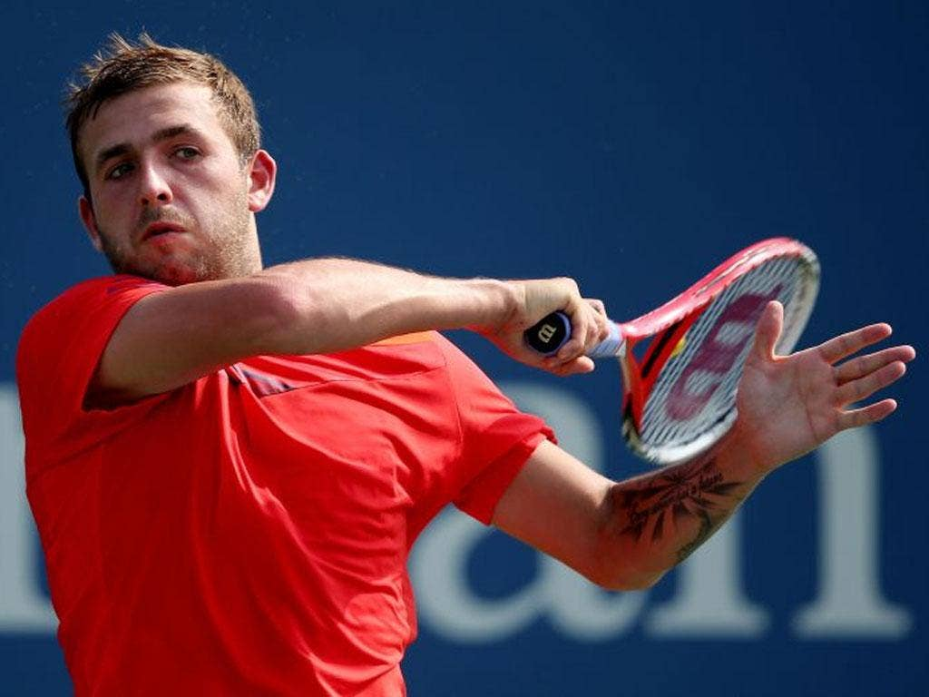 Dan Evans returns on his way to victory yesterday