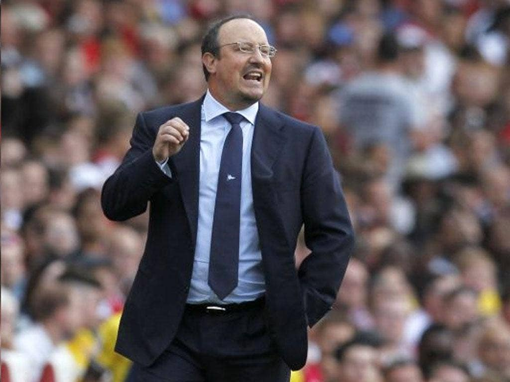Benitez: 'it has been very impressive to see how suarez is showing what a dangerous player he is'