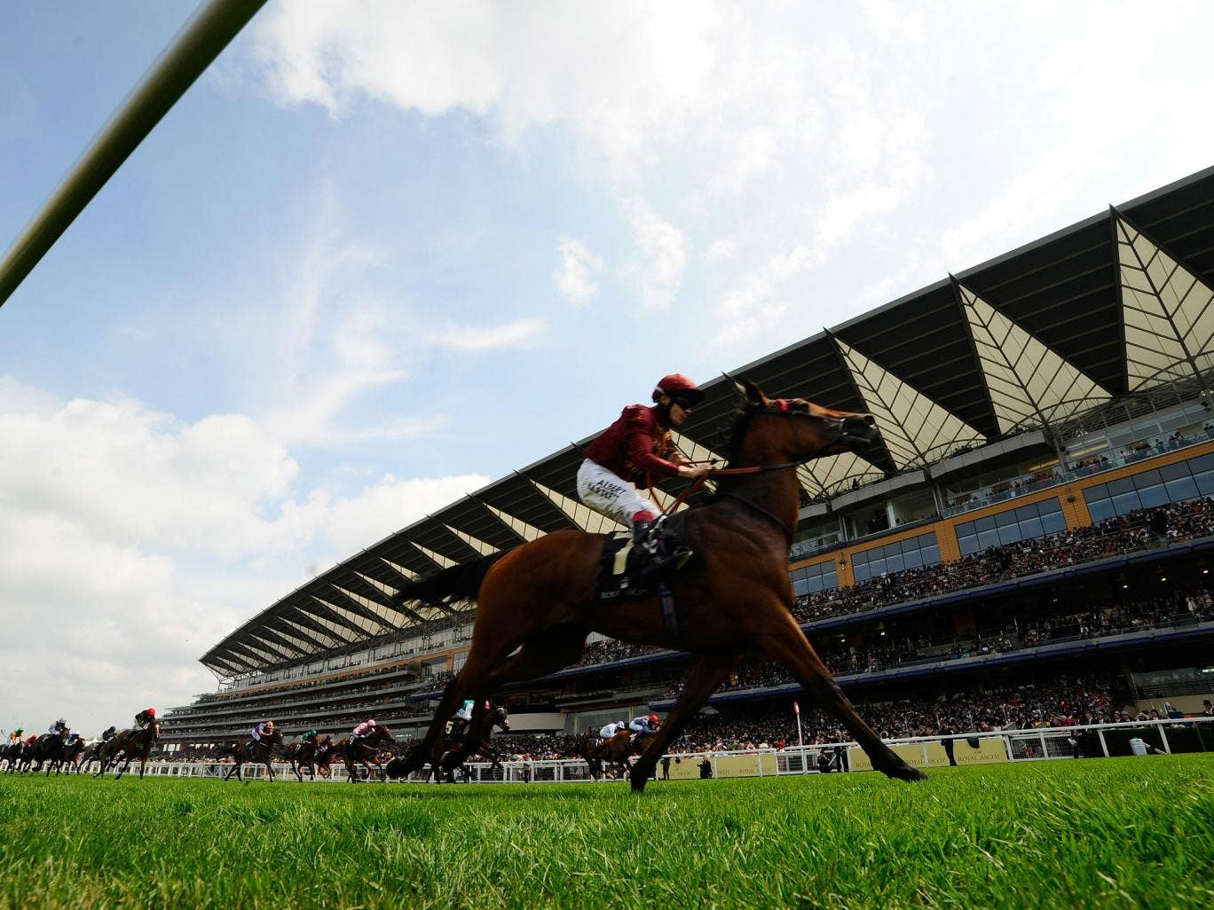 Jamie Spencer rides Kiyoshi to victory the Albany Stakes at Royal Ascot in June