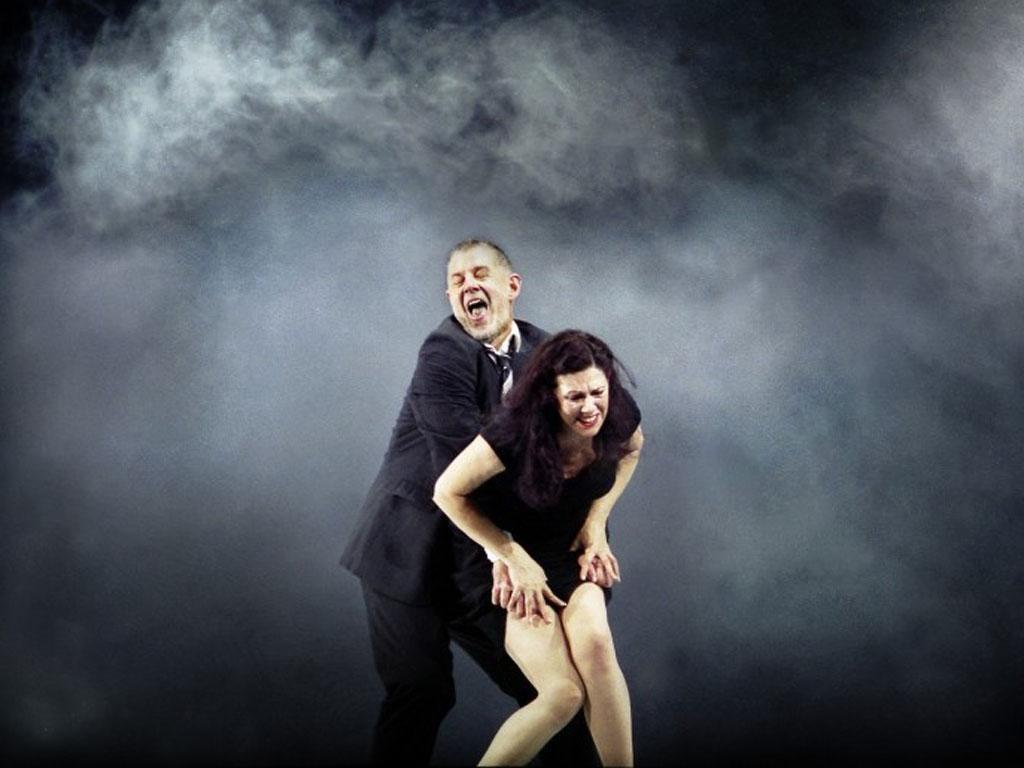 Power struggle: Robert Hayward and Tanja Ariane Baumgartner in Bluebeard's Castle