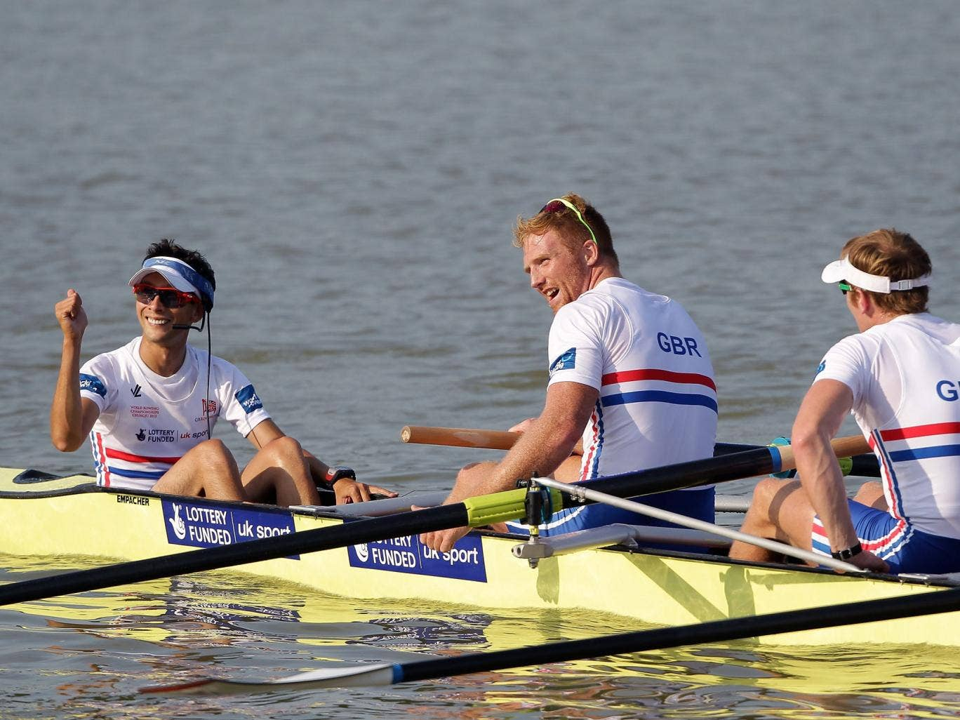 Great Britain ended a successful World Championships in Chengdu by taking their first-ever gold medal in the men's eight event
