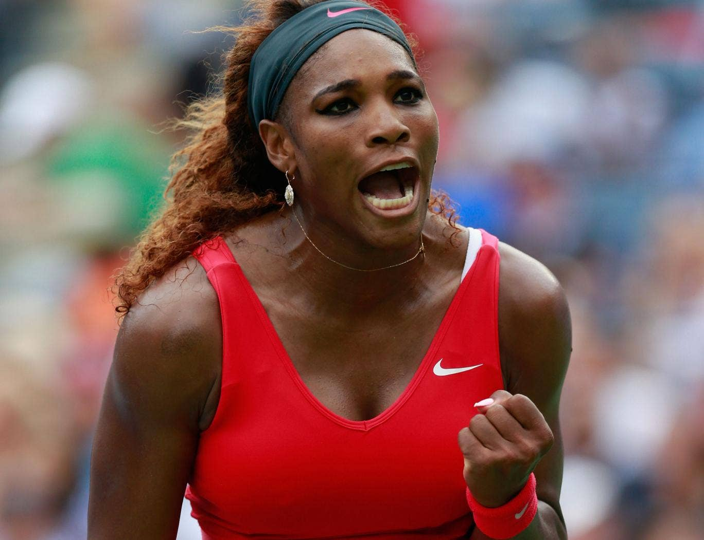 Serena Williams swept past Sloane Stephens and into the quarter-finals of the US Open