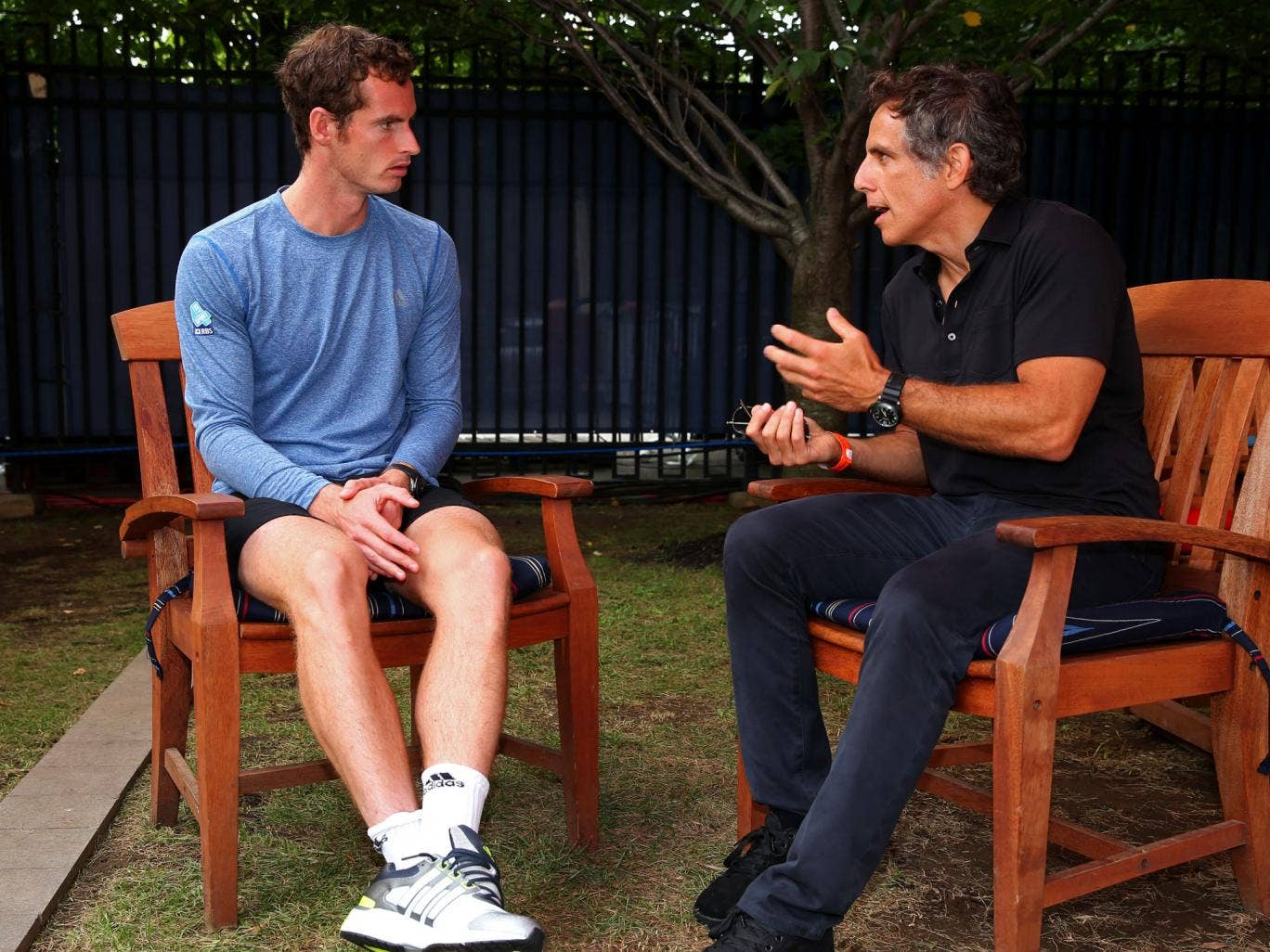 The actor Ben Stiller guest-stars on Andy Murray's coaching team