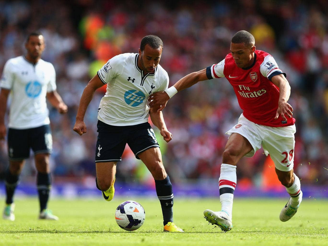 Andros Townsend (left) was Spurs' main attacking threat on Sunday