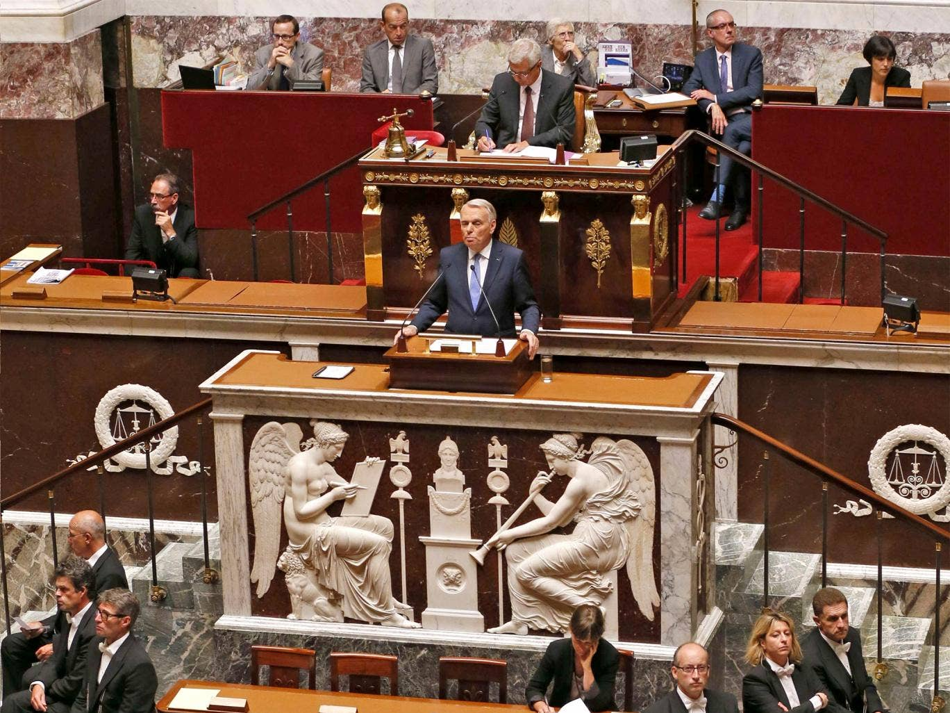 Prime Minister Jean-Marc Ayrault addresses the French National Assembly on Syria