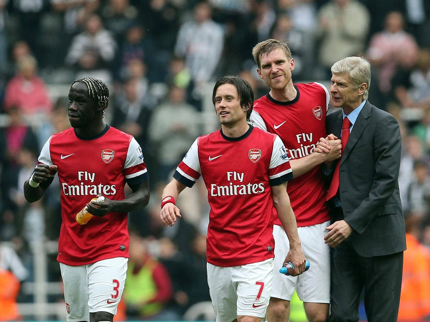 Bacary Sagna, Tomas Rosicky and Per Mertesacker could be handed new contracts by manager Arsene Wenger