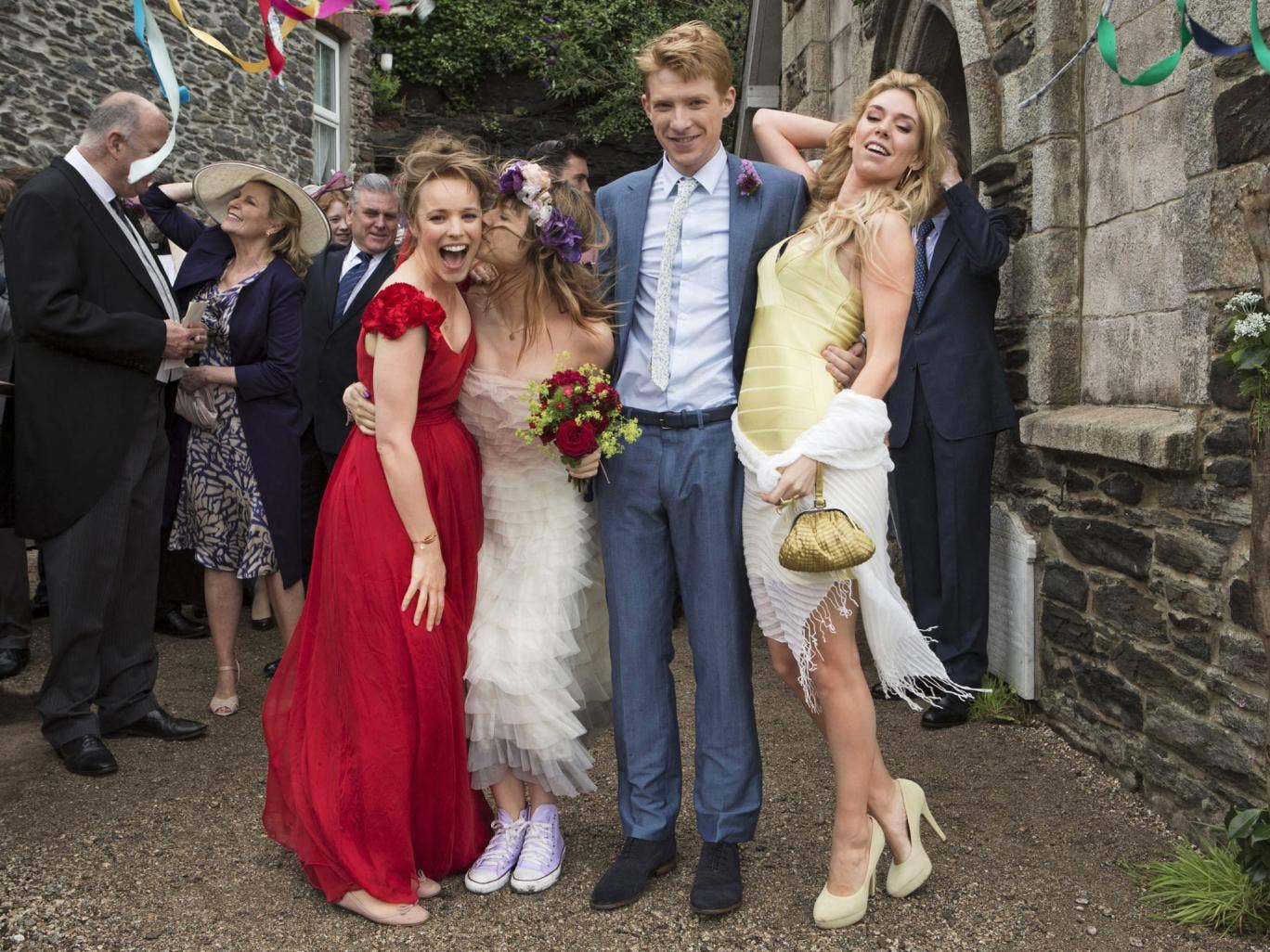 Kiss of death: Rachel McAdams, Margot Robbie, Domhnall Gleeson and Vanessa Kirby in 'About Time'
