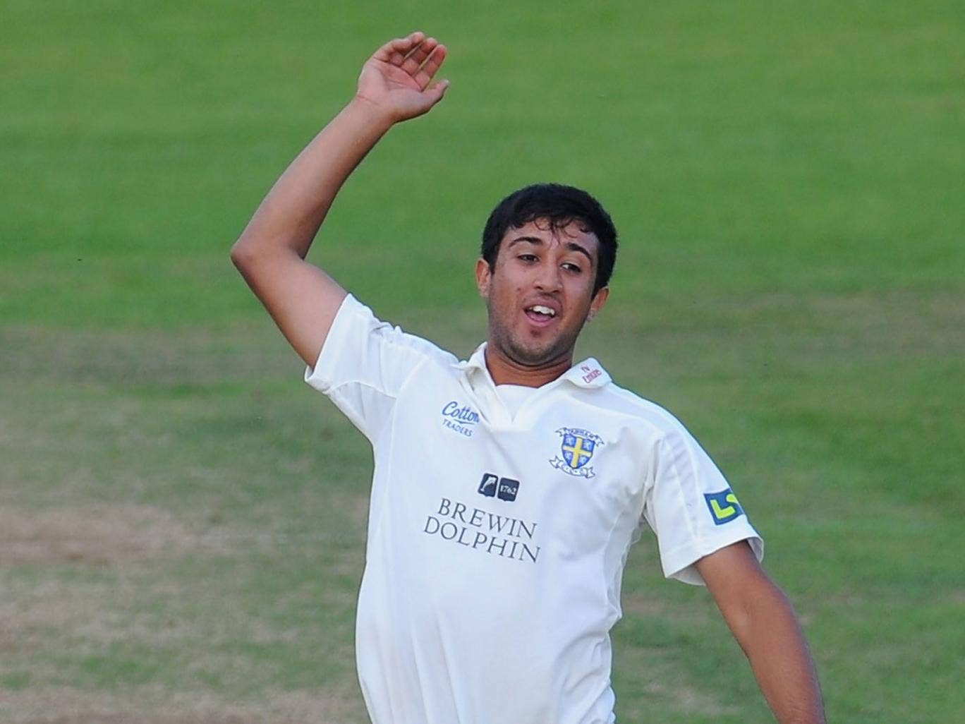 Usman Arshad: Seamer picked up two wickets in two balls to follow his 34 with the bat
