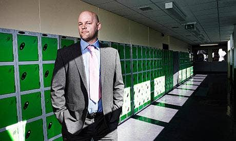 Mr Mitchell, the headteacher at Thornhill community academy in Dewsbury, Yorkshire