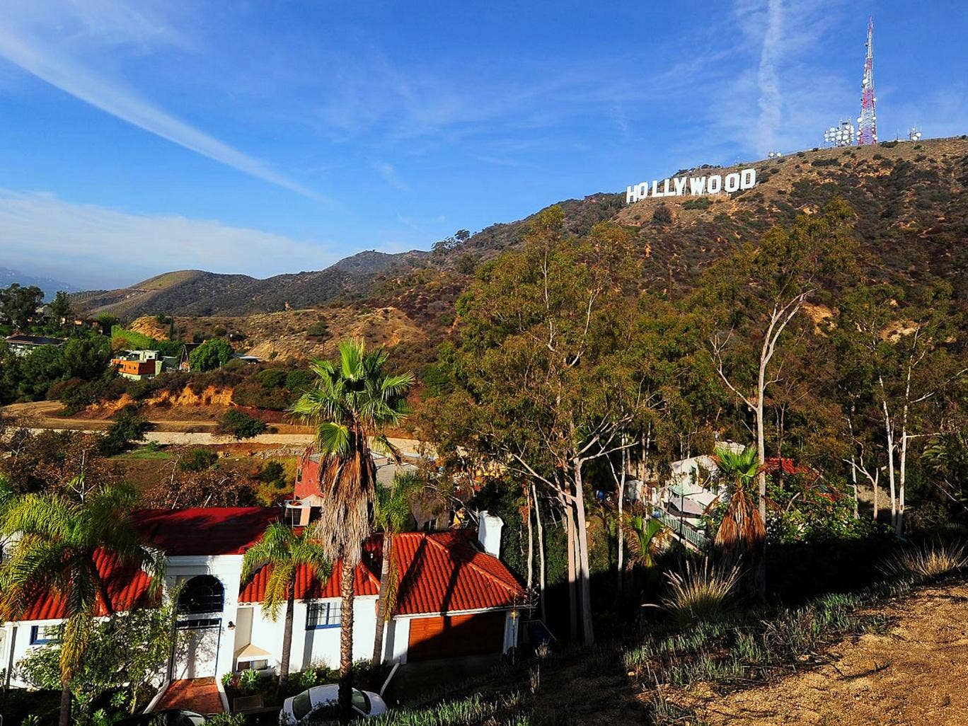 Sign up: the Hollywood Hills were a road-trip highlight