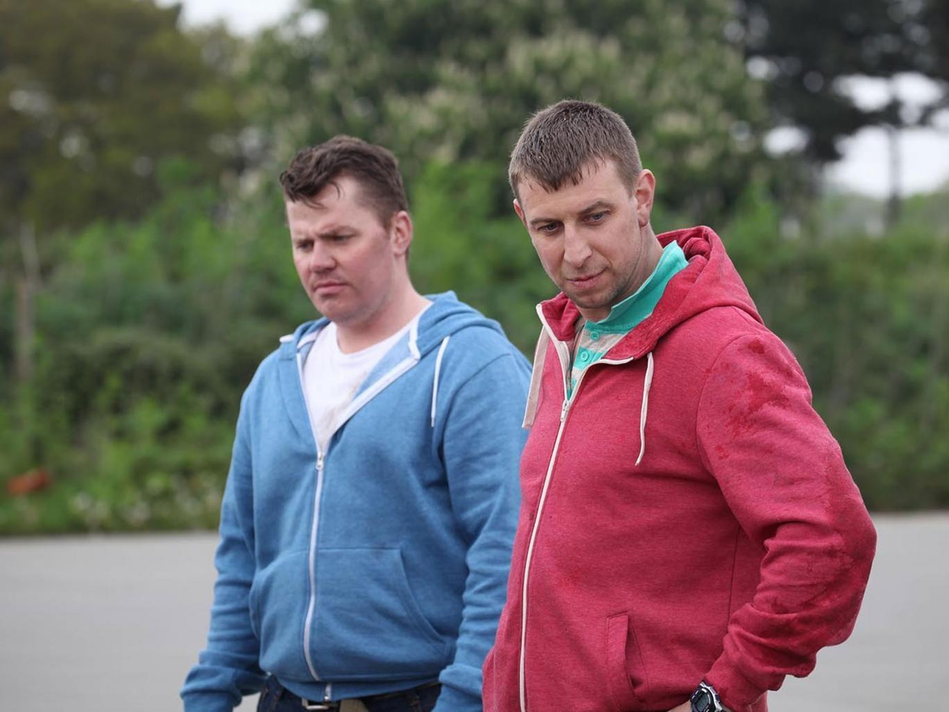 Andrew Gibbo, left,  and David 'Dodge' Pentek, right