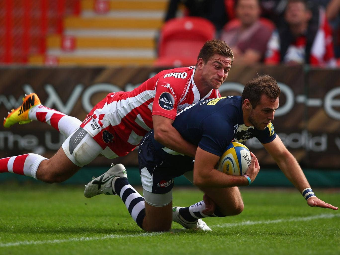 Andy Forsyth crosses for Sale to help them to a win at Gloucester