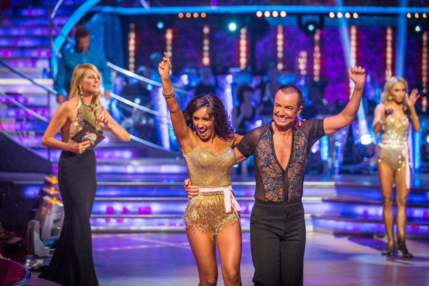 Julien Macdonald and professional dance partner Janette Manrara appearing on Strictly Come Dancing