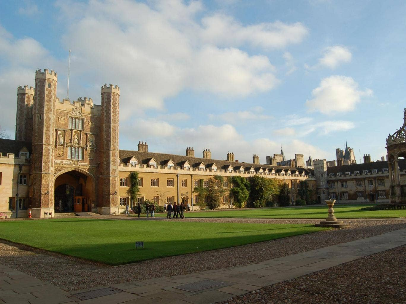 3. Cambridge University: The UK's highest ranking university. It grew out of an association of scholars - who were refugees from Oxford after falling out with local townsfolk - in 1209.