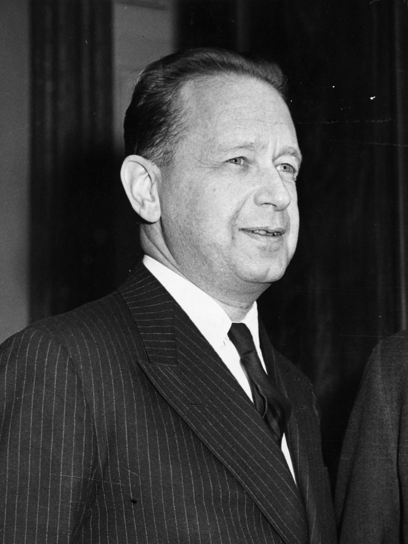 Circa 1960: Swedish statesman Dag Hammarskjold
