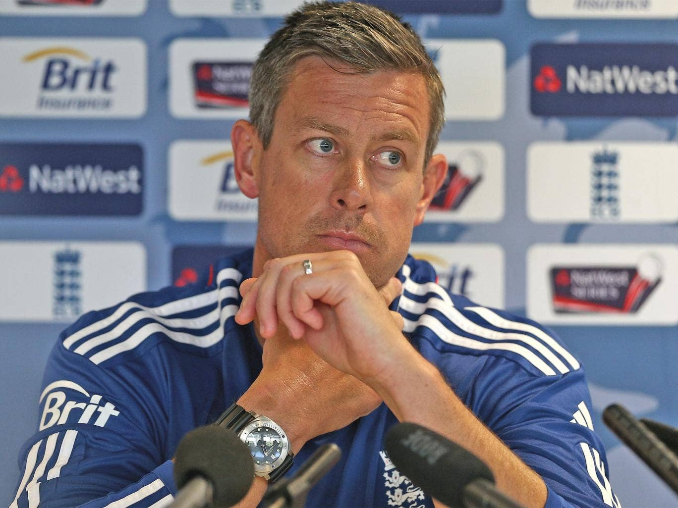 Ashley Giles was not amused at Tuesday's press conference