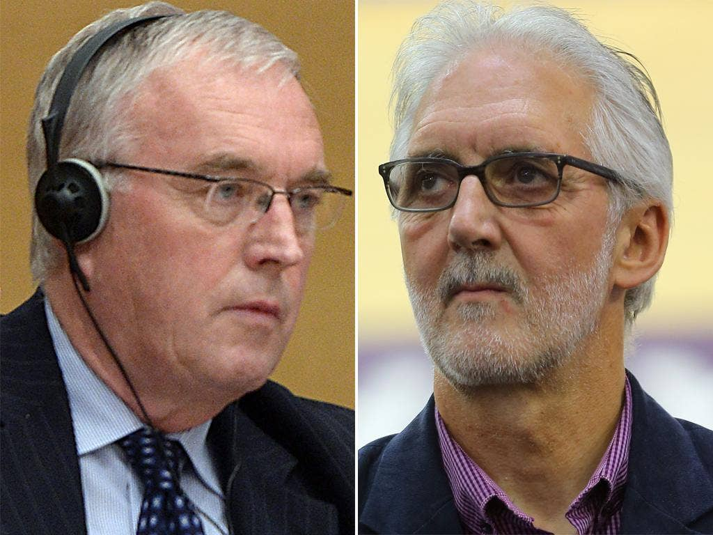 Pat McQuaid (left) has accused Brian Cookson's camp of smearing him