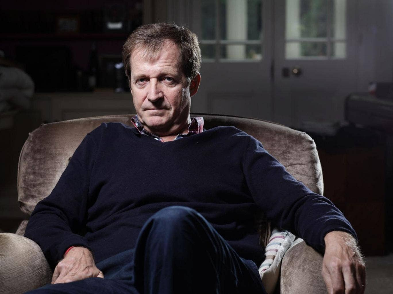 Alastair Campbell photographed at his north London home