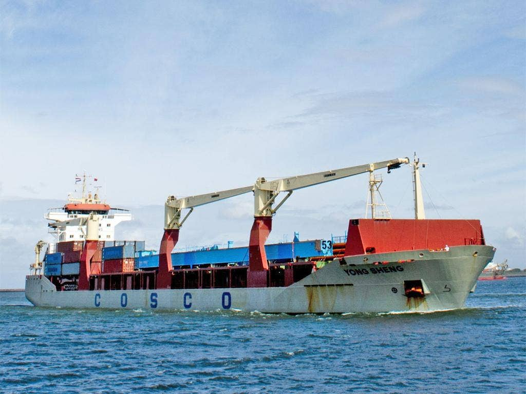 The Yong Sheng is the first commercial Chinese cargo ship to complete the Northern Sea Route