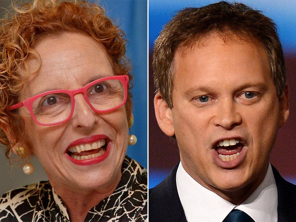 United Nations official Raquel Rolnik and Conservative Party Chairman Grant Shapps