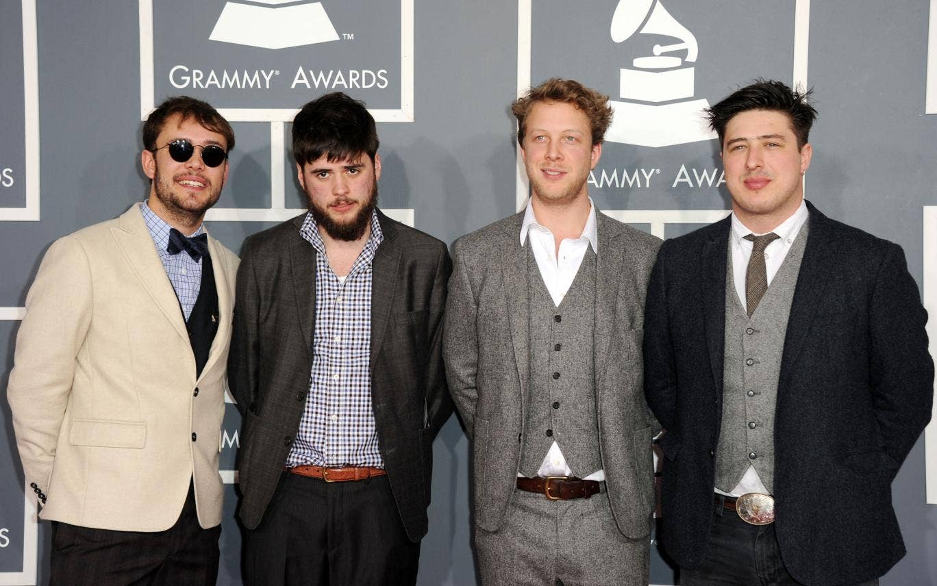 Clean-cut Mumford and Sons have been thrown out of a strip bar in Atlanta
