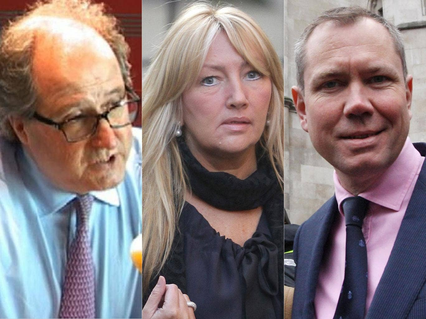 Paul Vickers, Company Secretary and Group Legal Director, Trinity Mirror; Sly Bailey, former chief executive Trinity Mirror (2003-2012); James Hipwell, former Mirror business journalist