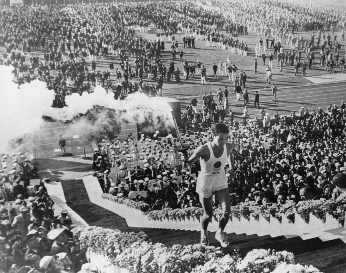 The opening ceremony for the last time Japan staged the Olympic Games, in 1964