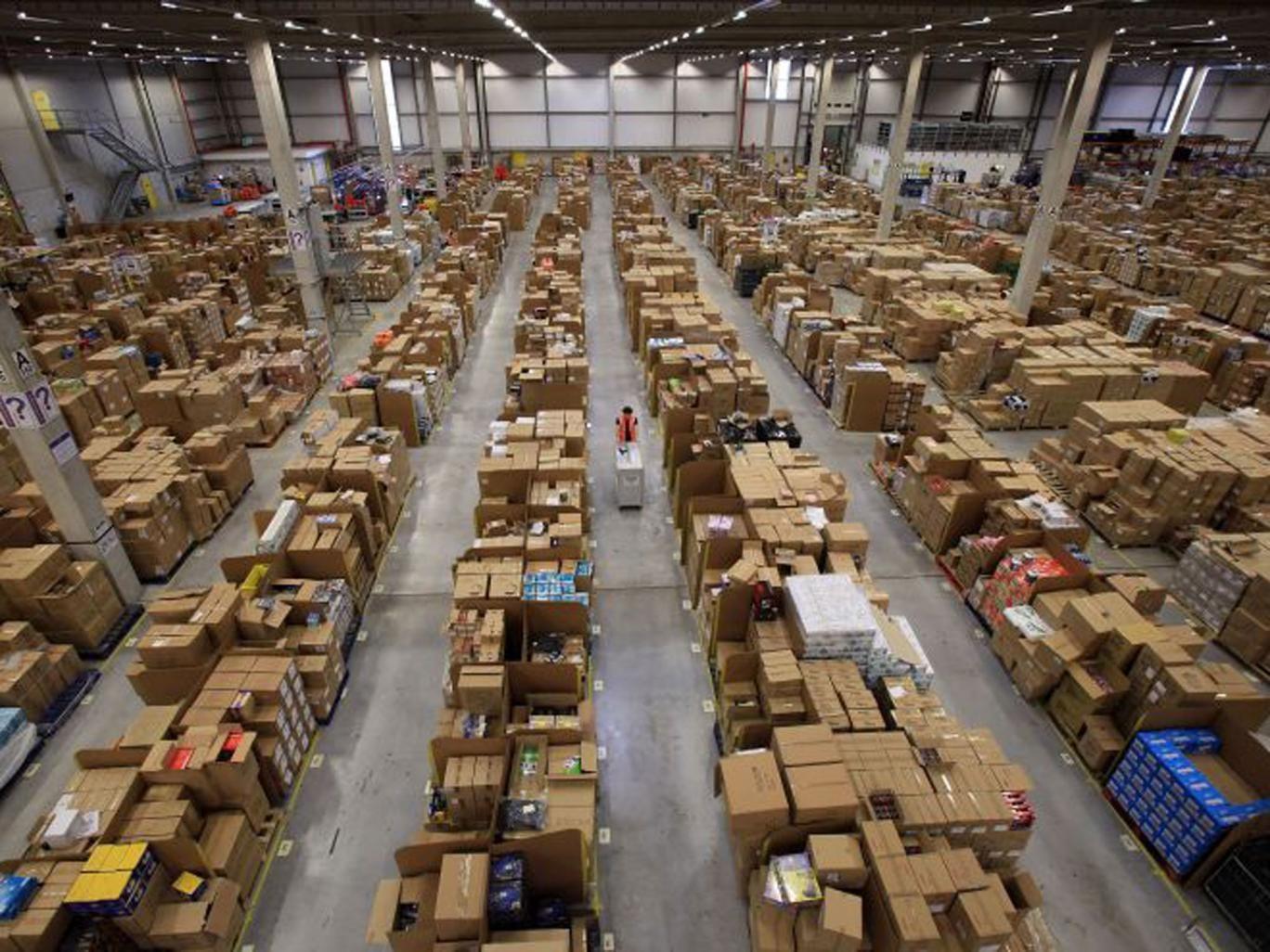 Amazon's vast distribution centre in Swansea