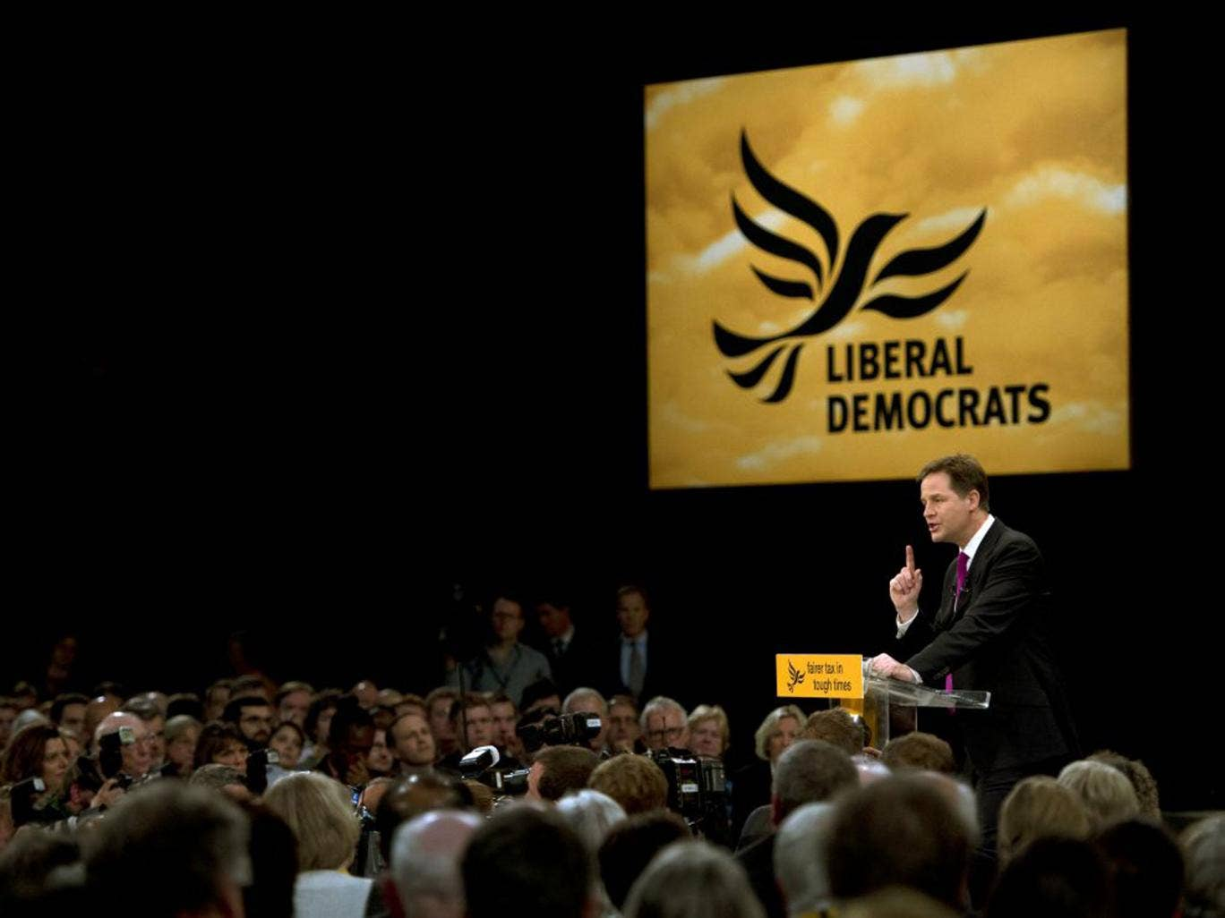 Mr Clegg will reassure his party that it will fight the 2015 election on a distinctive Lib Dem economic policy