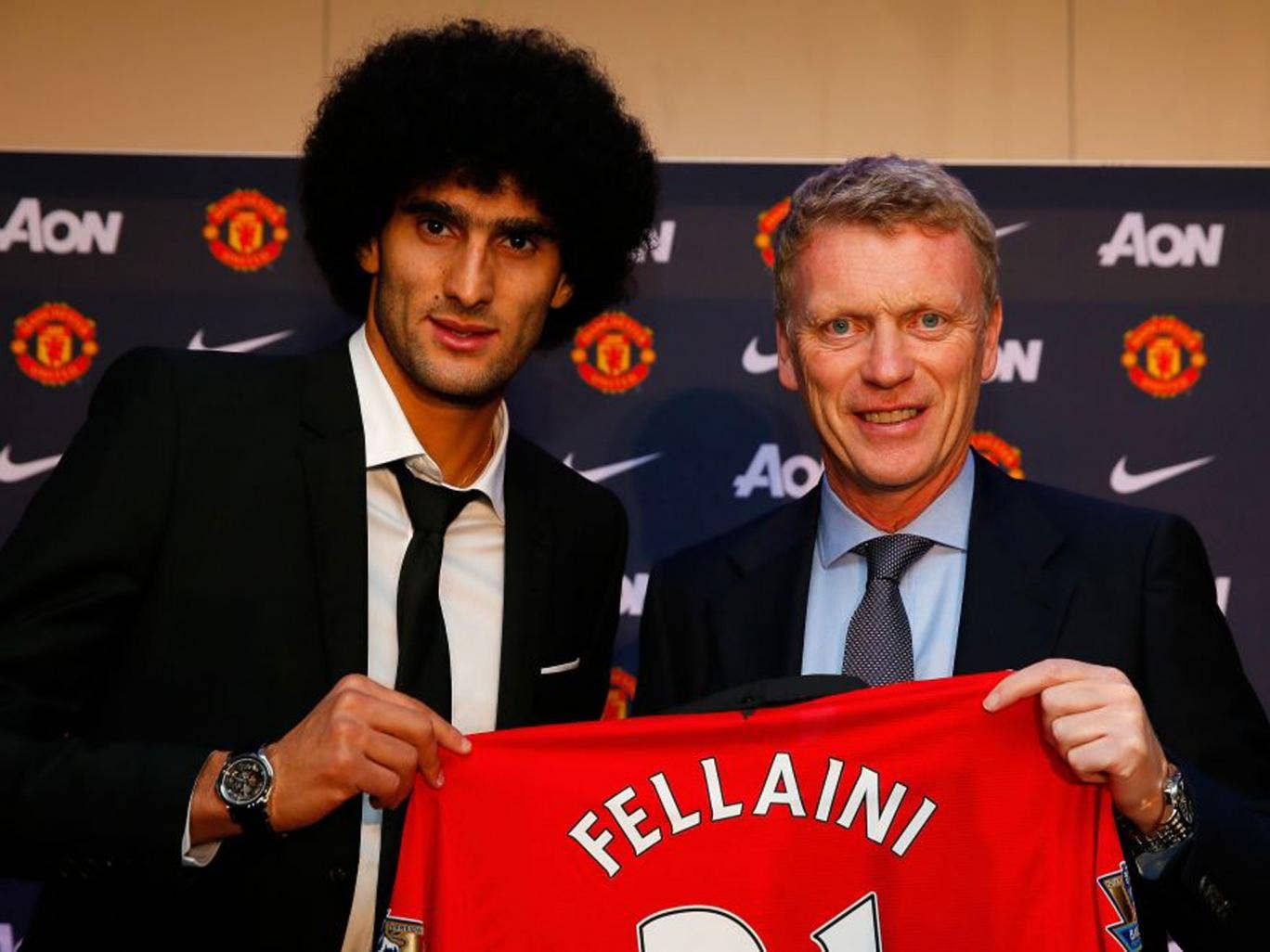 <p><strong>5. Marouane Fellaini (Man United, v C Palace, Saturday)</strong></p> <p>Manchester United's megastore can be expected to have a new range of Felli 'Fro wigs on show as they start recouping the £4m overpaid for the Belgian giant, D