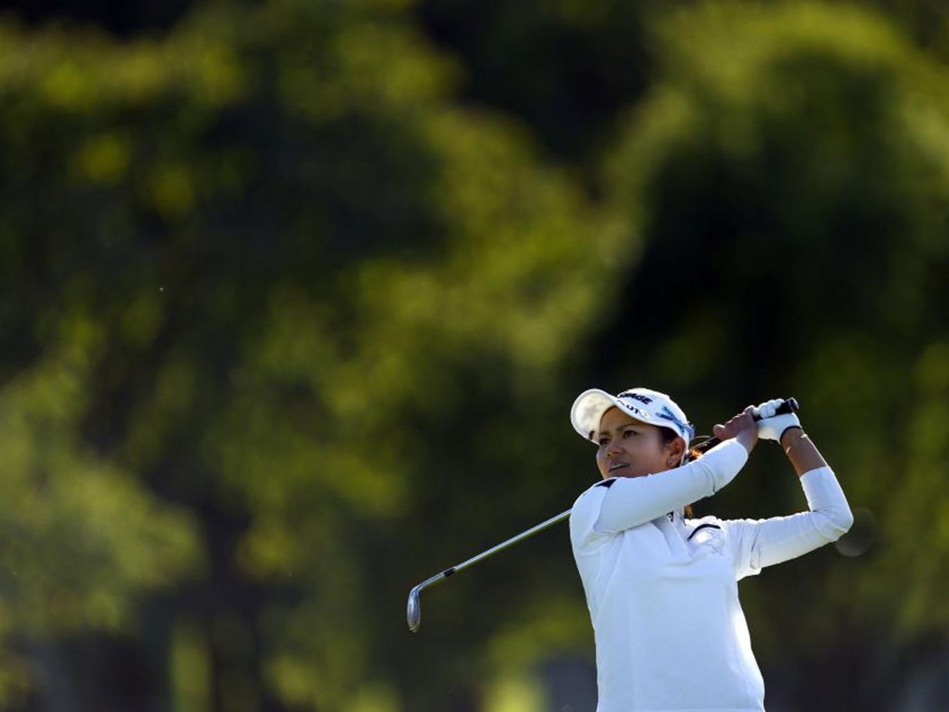 Japan's Mika Miyazato holds a one-shot lead over Sandra Gal