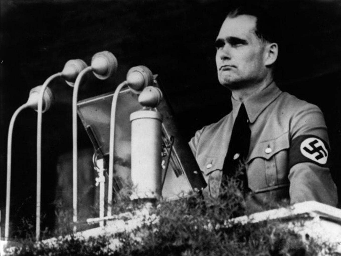 Spymaster: The former head of MI6, Sir Maurice Oldfield, is thought to have passed on letters by Rudolf Hess, far right