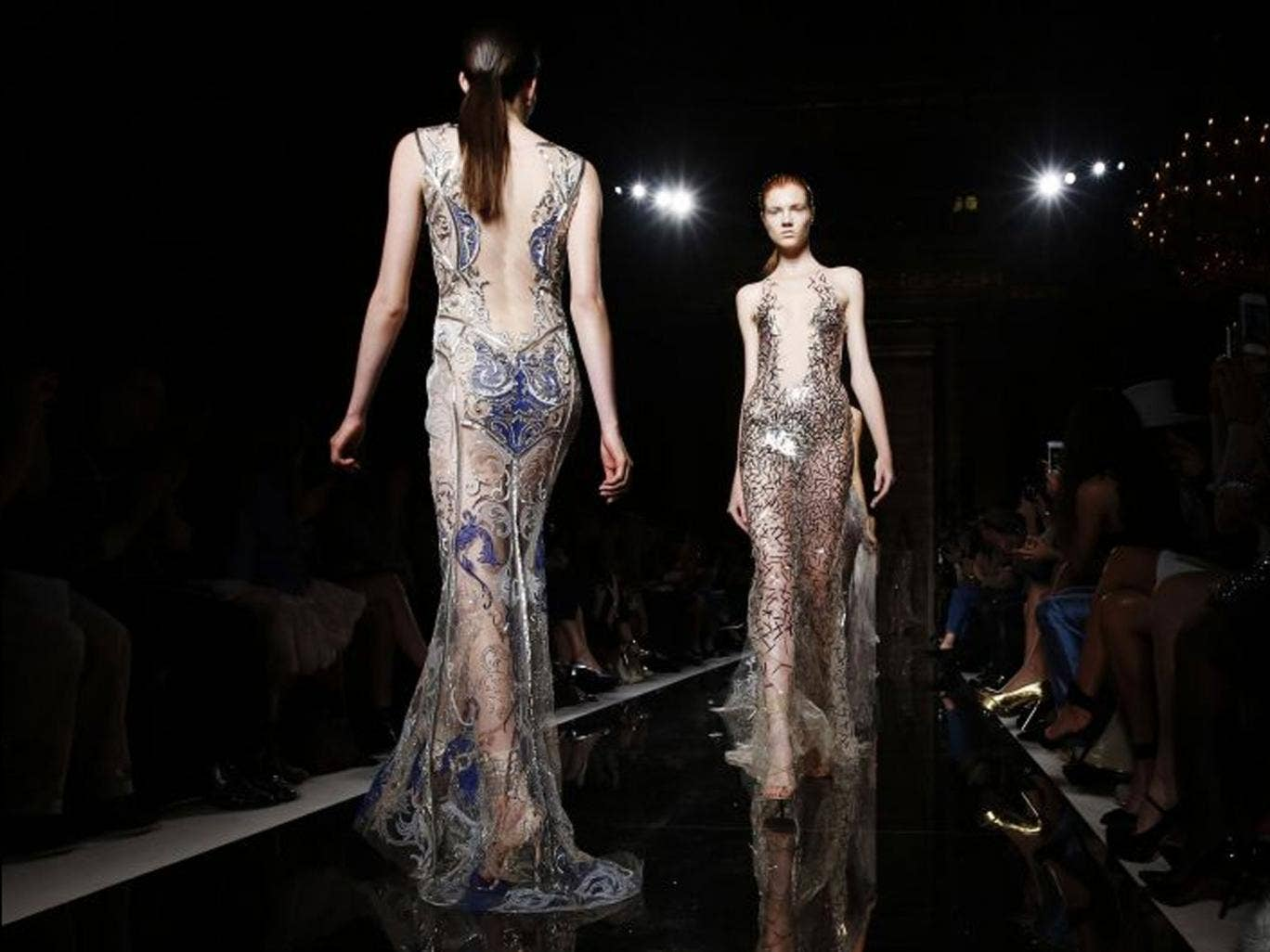 Models at Julien Macdonald's show