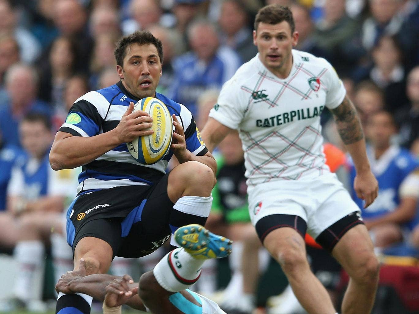 Gavin Henson, left, grew steadily more influential on his first start for Bath