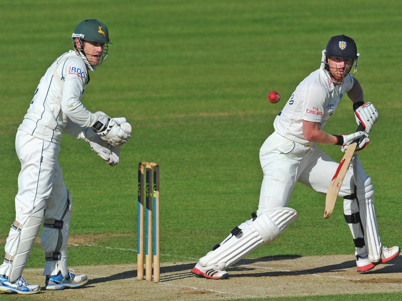Paul Collingwood made an unbeaten 88 in Durham's first innings