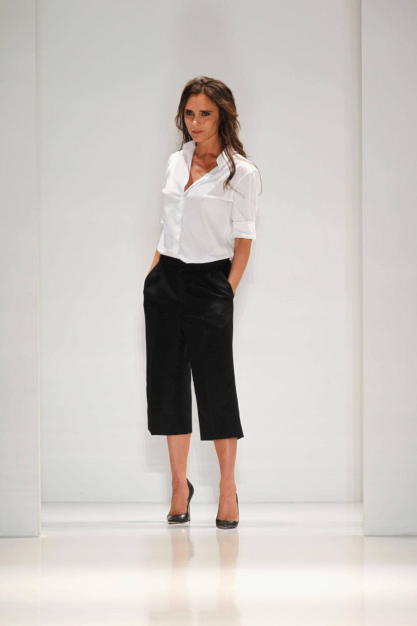 Victoria Beckham on the runway during her show at New York Fashion Week
