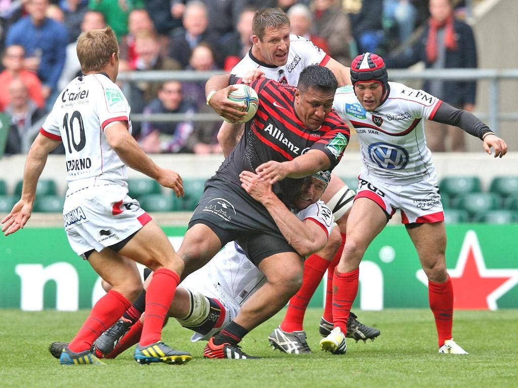 Saracens and Toulon collide in last year's Heineken Cup semi-final
