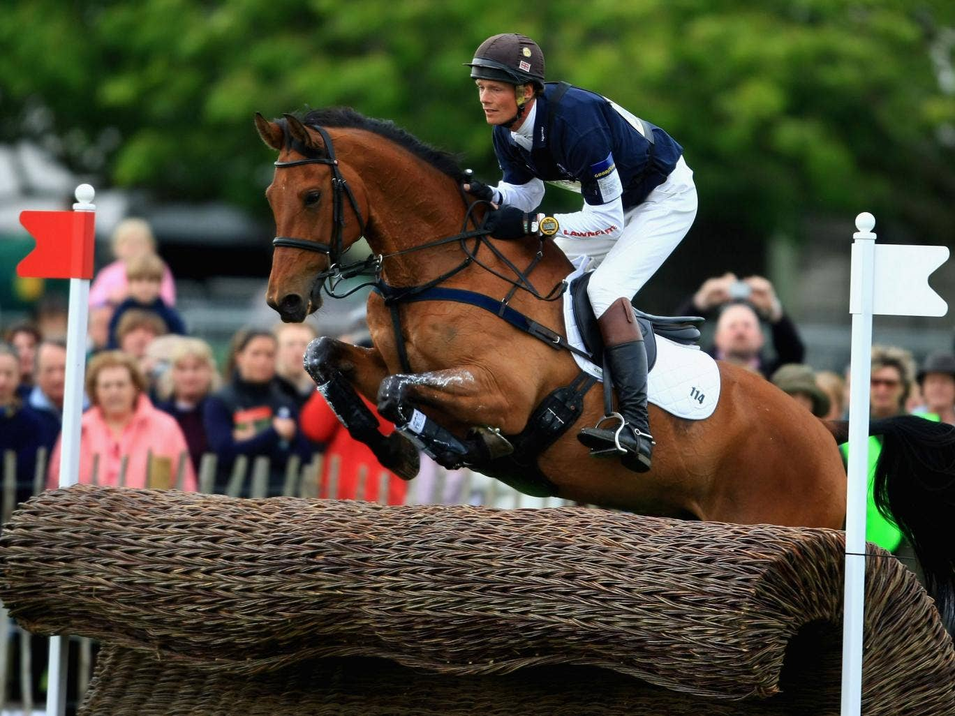 William Fox Pitt rides Tamarillo for Great Britain at the Badminton Horse Trials in May 2008