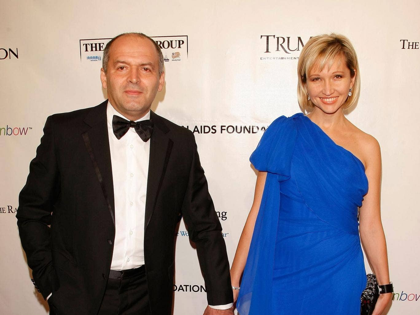 Billionaire politician Victor Pinchuk, here with his wife Elena, brings the 'world's biggest visionaries to Ukraine'